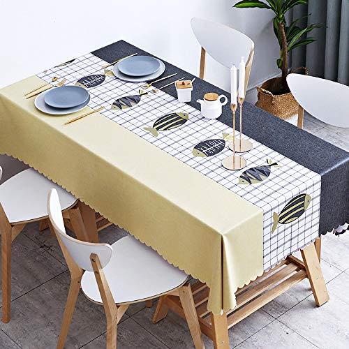 HEZESHOP Mantel Fiesta Cocina Mantel Tela a Prueba de Aceite Tela Decorativa Art Table Cover 120X120cm