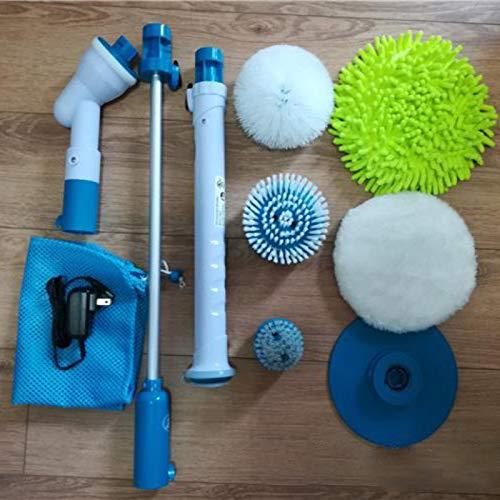 GUOZI Cepillo Limpieza Eléctrico,Spin Scrubber,con 5 Cabezales de Cepillo,con Conjunto de Cubierta...