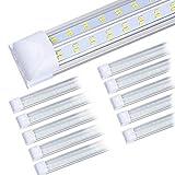 (10-Pack) 8ft LED Shop Light Fixture, 100W 14500LM 6000K, Cold White,...