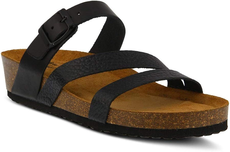 Spring Step Women's Flossie Sandals   color Black   Leather Sandals