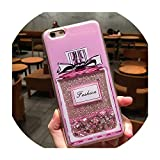 Dynamic Liquid Quicksand Case for iPhone Xs Max XR X 7 8 6 6S Plus 5 5s SE Love Heart Stars Glitter Stars Soft TPU Back Cover,Perfume Bottle,for iPhone 5S SE 5C