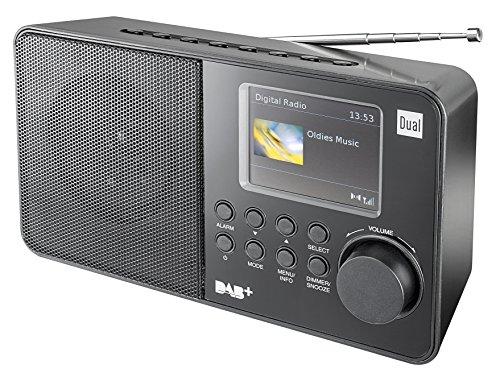 Dual DAB 18 C Digitalradio (UKW-/DAB(+)-Tuner, Sendespeicherfunktion, 7,1 cm (2,8 Zoll) TFT-Farbdisplay, Kopfhöreranschluss) schwarz