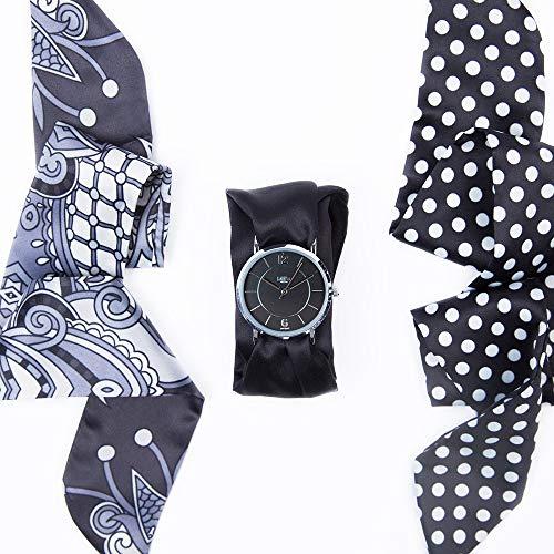 Bill's watches Montre Trend avec Bracelet Foulard Satin Full Blac