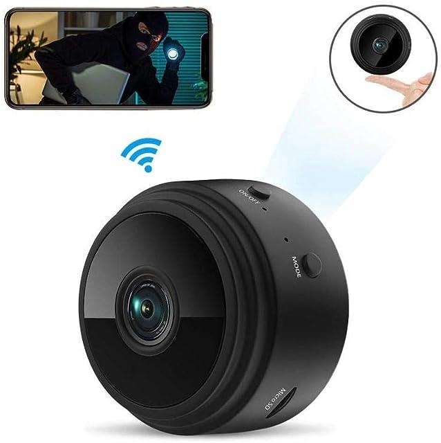 Camara espia wifi ZIMAX es de Las camaras espias ocultas mas vendidas 1080P HD Cámara de Vigilancia Portátil Secreta y Compacta con Detector de Movimiento IR y Visión Nocturna Seguridad