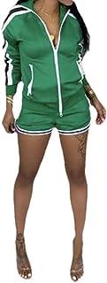 Energy Women's Active Workout Zip 2-Piece Striped Sweatpants
