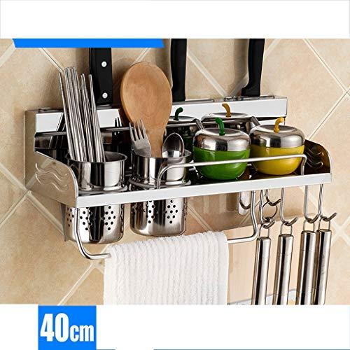 ZXL keukenrek roestvrij staal hangplank wandplank keukenrek keukenrek keukengerei Esperto Esperto keuken geschenk keuken keuken (grootte: 60 cm)