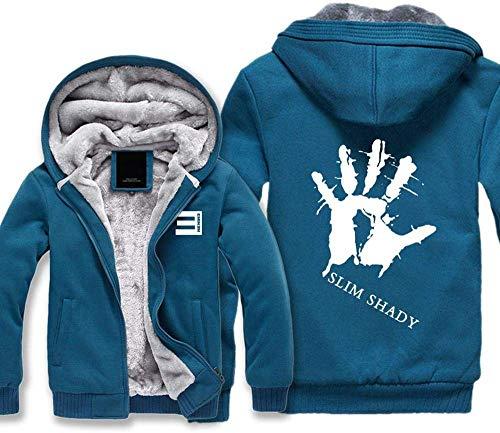 INSGOS Hoodies Jacken Eminem Printed Velvet Zip Pullover Cardigan Sweatshirts Tops Für Männer Und Frauen Mehrere Größenoptionen / 2 / X/Groß