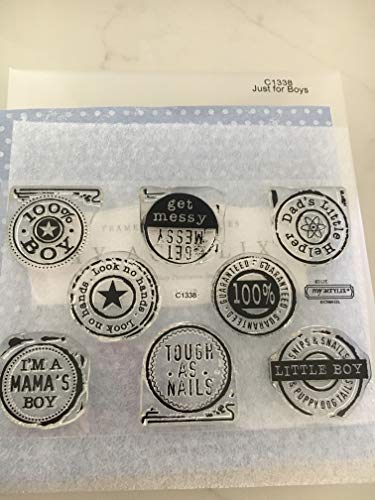 Close To My Heart C1338 Just for Boys My Acrylix Stamp Set CTMH