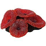 lifebea Filtro Profesional Acuario 3 pcs Caliente Acuario Artificial Ornamento Planta del Acuario Decoración Coral Sea Silicona no tóxico Rojo