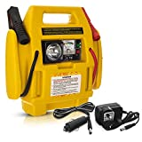Hillington Portable Emergency Car 600A Peak Jump Starter with 260 PSI Air Compressor and Battery Start Booster with Charger Jump Leads and 12V or 240V Power