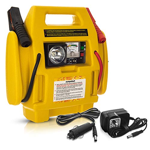 Hillington Portable Emergency Car 600A Peak Jump Starter with 260 PSI Air Compressor and Battery Start...