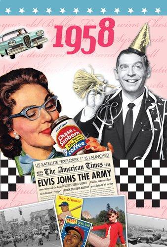 Amazon.com: 1958 Birthday Gifts - 1958 DVD Film and 1958 Greeting ...