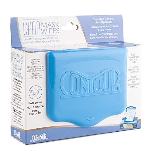 Contour CPAP Masken-Reinigungstücher - 72 Stück - Effektive Reinigung für CPAP-Maske (Ohne Duft)