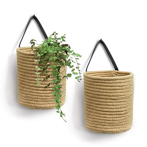 Goodpick 2pack Jute Hanging Basket - 7.87