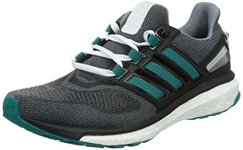 Adidas Heren Energy Boost 3 m Sport und Outdoorschuhe, Mehrfarbig (Gris / Verde / Negro), 40