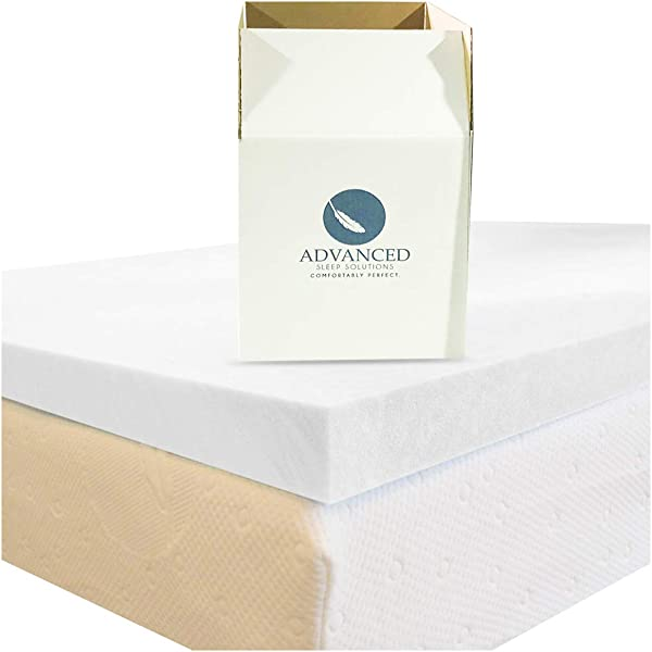 3 英寸记忆泡沫床垫顶部双人 XL CertiPur 美国批准双人超长尺寸记忆泡沫床垫顶部舒适中软顶部双人 XL 床 3 年保修