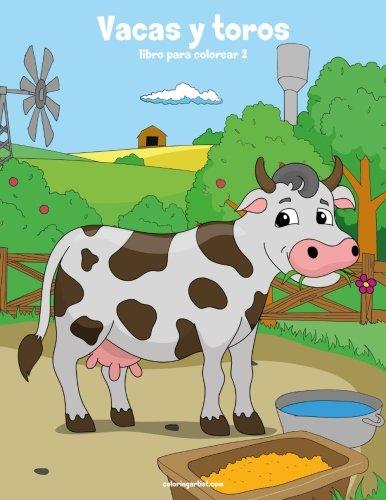 Vacas y toros libro para colorear 2: Volume 2