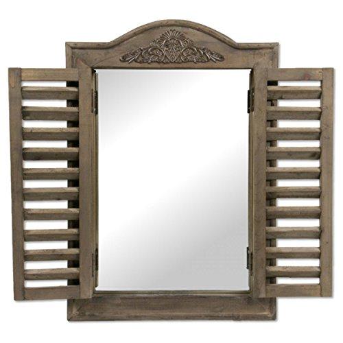 Boltze Spiegel Fensterladen 1 Stück, 31x45cm Kerzenhalter 31x45cm