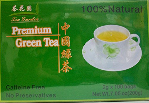 Chinese Green Tea 100% Natural & Caffeine Free 100 Tea Bags