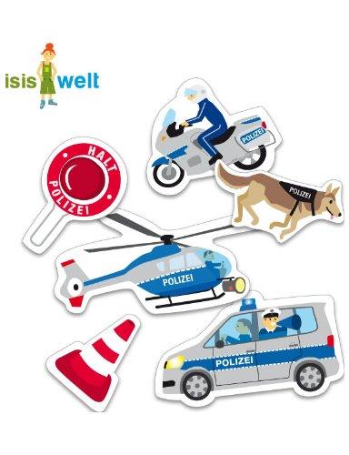 24 Stück XXL Konfetti Polizei Tischdekoration Kindergeburtstag