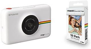 Polaroid Snap Touch cámara digital con impresión instantánea y pantalla LCD (blanco) con tecnología Zero Zink + Polaroid M230 - Pack de 50 papeles fotográficos color blanco