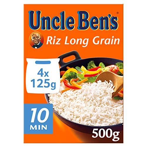 UNCLE BEN'S Riz Long Grain Sachets Cuisson 4 x 125 g - Pack de 12
