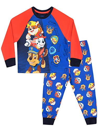 Paw Patrol Jungen Chase Marshall Rubble Schlafanzug Gr. 6-7 Jahre, mehrfarbig