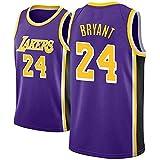 Camiseta De Baloncesto Para Hombre Lakers # 24 Kobe Bryant Baloncesto Bordado Retro EdicióN Para FanáTicos De Verano Camiseta Sin Mangas Ropa Deportiva Ropa Deportiva Transpirable S-XXL