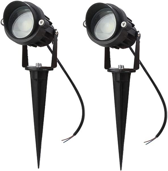 LAVAED 10W LED Landscape Lights 12V Pathway Spotlights Warm White Waterproof Lighting 2 Pack