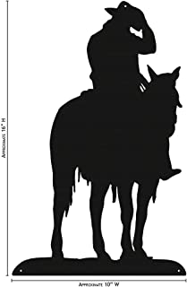 COWBOY ON HORSE Simple Silhouette