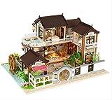 tytlmodel Casa Muñecas En Miniatura,Kit Madera,Muebles Grandes,Jardín Casas Muñecas DIY,Juguetes para Casas Muñecas para Niños,para Ensamblar Educativos,Regalos Cumpleaños Navidad,24 * 32 * 19 Cm