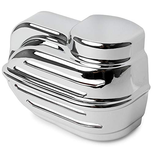 Krator Chrome Replacement Horn Cover Compatible with Harley Davidson Wolo Bad Boy Horns (Wolo Bad Boy Air Horn Kuryakyn P/N 7742 & Wolo Bad Boy Air Horn Models 419 & 519)