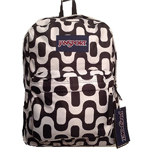 JanSport Classic Superbreak Backpack (Black/White Rio Walk)