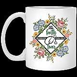Taza de café de cerámica con estetoscopio para enfermera, con texto en inglés 'Be Bigger Than Your Fear'
