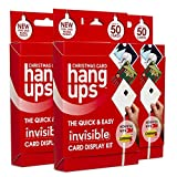 Hang Ups Christmas Card triple pack Christmas Card Display Kit with non marking 3M Command strips