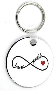 Kembilove Llaveros Personalizados Parejas - Novio, Novia, Esposo, Esposa, Llavero Personalizado - Regalo para San Valentín...