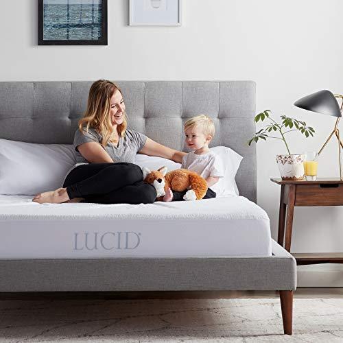 LUCID Premium Hypoallergenic 100% Waterproof Mattress Protector-15 Year Warranty-Vinyl Free-Queen