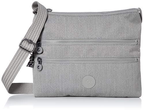 Kipling Damen Alvar Stofftasche, Grey Beige PEP (Multicolor), M