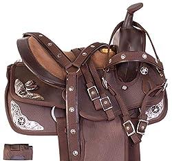 "commercial Acerugs 10 ""12″ 13 ""Kids Seat Western Synthetic Show Barrel Trail Pony Horse Saddle Set Free … horse saddles"