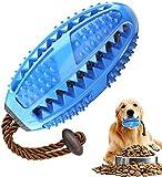Zahnbürsten-Stick, Hundezahnbürste Hundespielzeug Kauspielzeug,Ball Leckerli-Spender für Hunde Welpen-Zahnpflege, Bürsten und Kauspielzeug, ungiftig Bite resistent Hund Zahnbürsten Stick