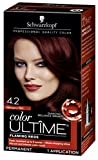 Schwarzkopf Color Ultime Permanent Hair Color Cream, 4.2 Mahogany Red