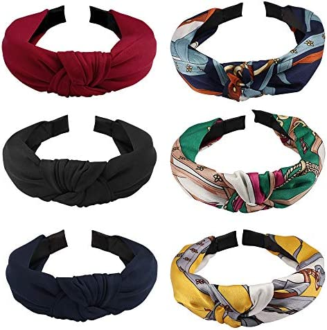 Ondder 6 Pack Knotted Headbands for Women Turban Headbands for Women Hair Hoop Hard Headbands product image