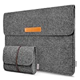 Inateck 13-13.3 Inch Laptop Sleeve Case Bag Compatible MacBook Pro 2012-2015 Retina/MacBook Air 2010-2017/12.9' iPad Pro, Dark Gray