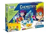 Clementoni Juego-Química Ciencias-Laboratorio y Kit de esperiment para niños de 8 años o más-Made in Italy, (versión en inglés), Multicolor (61726)