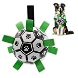 Interactive Dog Toys Dog Soccer Ball with Grab Tabs Dog Tug Toy Dog Water Toy for Outdoor, Durable Dog Ball Toy for Small Medium Dogs and Puppy(6 Inch)