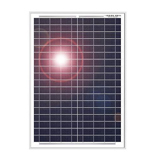 DOKIO Polykristallines Solarmodul 20W 12V mit Laderegler (2X USB-Port) für Wohnmobil, Camping, Gartenhaus
