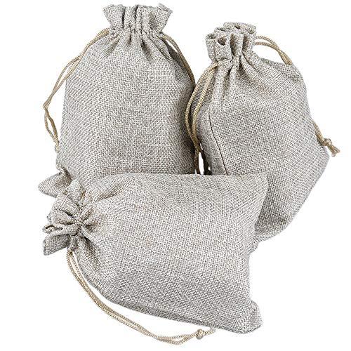 G2PLUS Natur Jutesäckchen 20 Stück Jutebeutel 10 x 15 cm Leinensäckchen Sackleinen Geschenkbeutel mit Kordelzug für Lavendelblüten, Schmuck, Geschenke