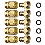 Best Garden Hose With Brass Fittings - ShowNew Garden Hose Quick Connector 3/4 inch GHT Review