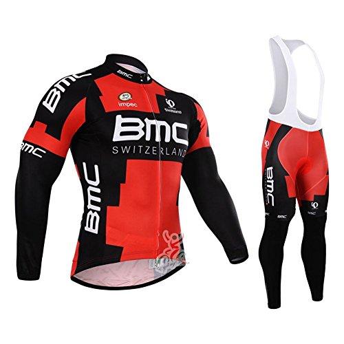 Mono y maillot de ciclismo para hombre, para invierno, resistente al viento, pantalones acolchados, hombre, color Color 1, tamaño large