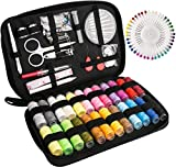 Sewing Kit Luxebell 92 Sewing Accessories Portable Travel Household Needlework Box for Girls&Adults